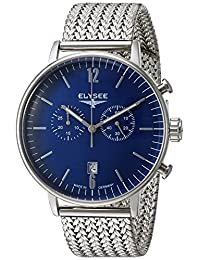 ELYSEE Men's 'Classic-Edition' Quartz Stainless Steel Casual Watch, Color:Silver-Toned (Model: 13295M)
