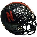 Grant Wistrom Autographed Nebraska Cornhuskers Authentic Black Signed Full Size Football Stat Helmet 3 x NATL CHAMP