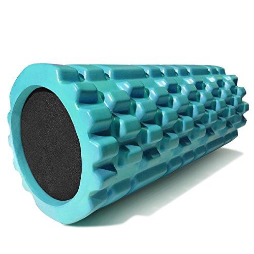 321 STRONG Foam Massage Roller - Deep Tissue Massager For Your Muscles & Back, Aqua