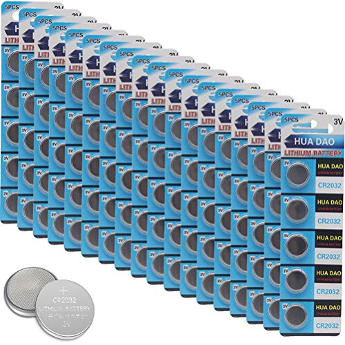 (CR2032 Lithium Battery 3 Volt Coin Button Cell 100 Pack)