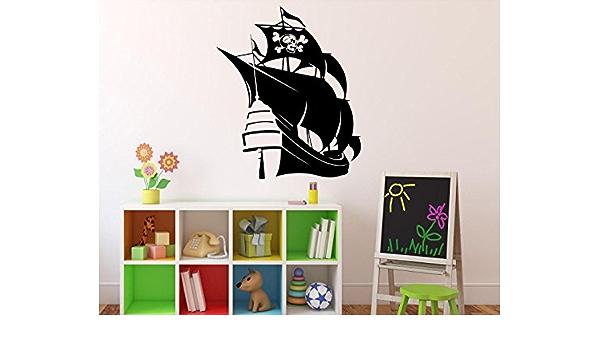 Pirate Ship Wall Vinyl Decal Marine Sea Nautical Wall Sticker Home Wall Art Decor Ideas Wall Interior Removable Kids Room Design 8 Mrn Amazon Ca Tools Home Improvement