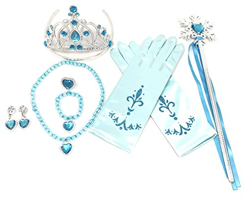 rty Accessories - 3 Piece Set: Gloves, Tiara and Wand (Light Blue) ()
