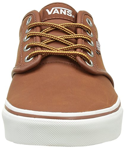 Vans Trainers Leather Low Top Brown Women's Atwood xxBrZ