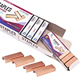 "BLICKCLICK Premium Standard Office Staples | Bulk Pack of 10,000 - Rosegold Sharp Chisel Points & Strong Steel Wire Strips – ¼"" Size Fits Most Staplers – Great for Classroom and Household Use"
