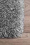 nuLOOM Kristan Hand Tufted Shag Rug, 4' x 6', Grey