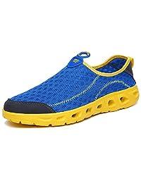 MCICI Women's Water Shoes Men's Sneakers Mesh Slip on Walking Shoes Athletic Sport Quick Dry Lightweight Barefoot Aqua Shoes Swim Beach Pool Yoga River Garden Park Unisex