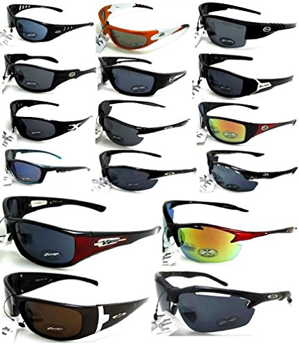 Xloop Sunglasses Lot Of 12 ASSORTED Colors and Styles Wholesale Prices Pre - Sunglasses By The Dozen