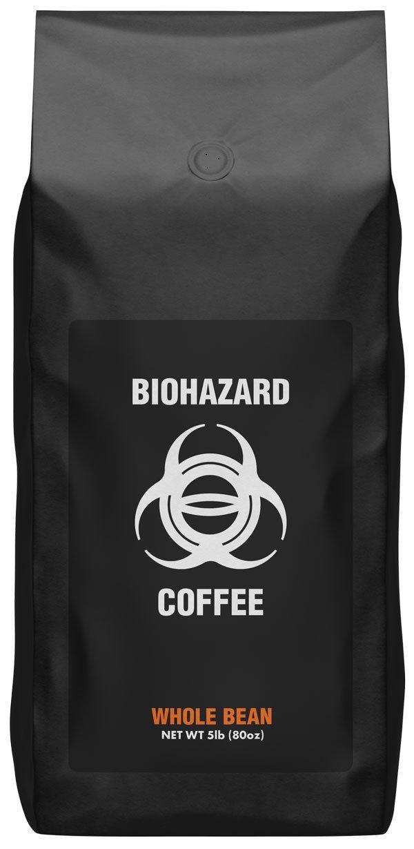 Biohazard Whole Bean Coffee, The World's Strongest Coffee 928 mg Caffeine (5 Lb)