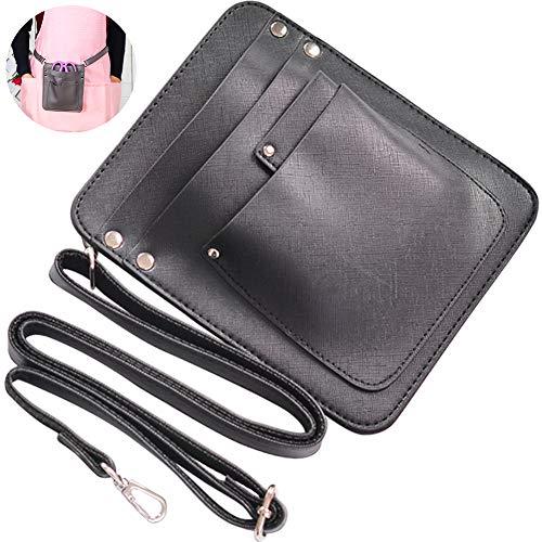 TINTON LIFE PU Leather Scissors Holder Bag with Adjustable Shoulder Strap Gardening Case Pouch Bag Plier Sheath Tool Holsters Florist Bag for Floral Arrangement, Black