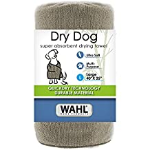 WAHL 40 x 25 Large Drying Dog Towel Tan 858489 Absorbent Soft Fabric Dog Towel for Grooming and Bathing