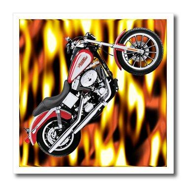 3dRose LLC Hot_3175_1 Iron on Heat Transfer Picturing Harley-Davidson Motorcycle