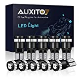 AUXITO 194 LED Light Bulb, Ultra Blue 168 2825 W5W T10 Wedge 24-SMD 3014 Chipsets LED Replacement Bulbs Error Free for Car Dome Map Reading License Plate Lights (Pack of 10)