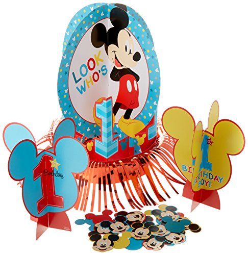 Amscan Disney Mickey's Fun to be One Table Decorating Kit, Birthday ()