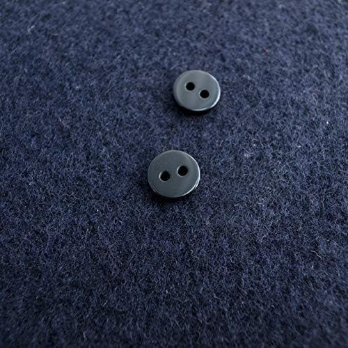 【力ボタン(補強用ボタン)】プラスチック力ボタン #NEWS0200 10mm 2穴 C/#ブラック 10個セット