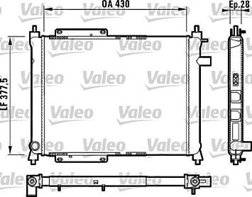 Valeo 732759 Radiador, refrigeración del motor