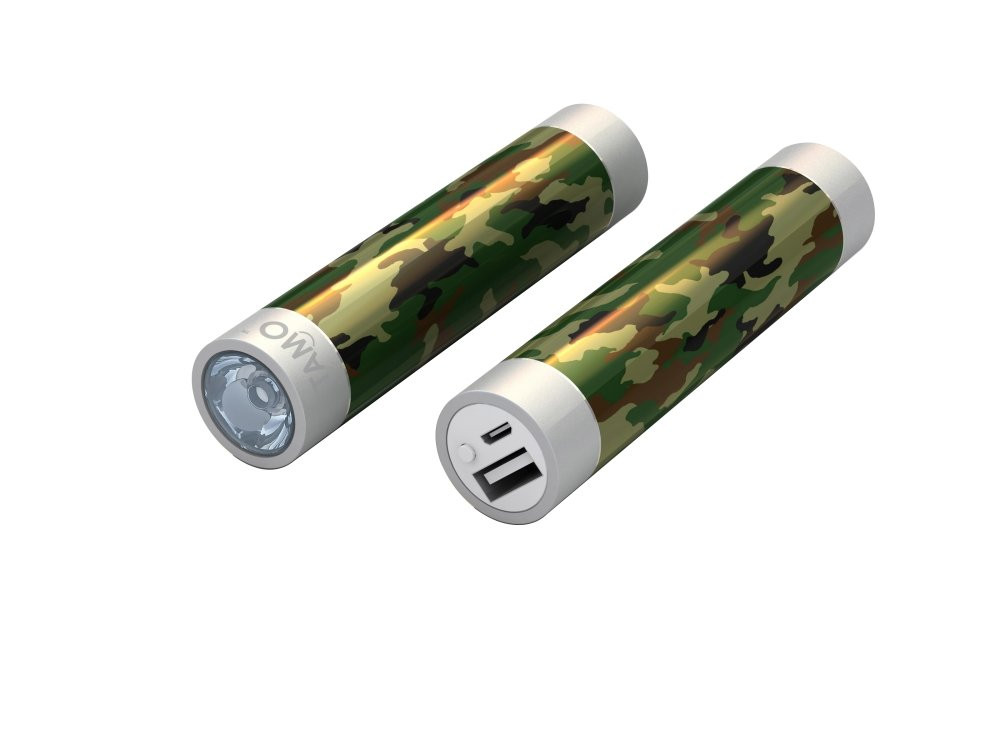 TAMO 2200 mAh Power Stick - Fun External Battery Backup Pack for All Smartphones, Tablets, Laptops - Basic Packaging - Army