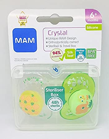 Amazon.com: MAM Crystal Chupete 2 unidades 6.6 yard + ...