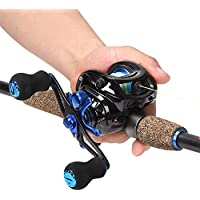 Sougayilang 2-Piece Baitcasting Fishing Rod with Fishing...