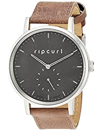 Rip Curl Women's 'Circa' Quartz Stainless Steel and Leather Sport Watch, Color:Brown (Model: A2876G-BLK)