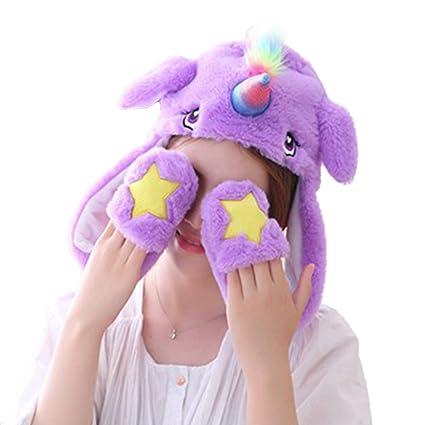 5145d942d211 Amazon.com  Debbieicy Lovely Costume Props Plush Bunny Hat Cute ...