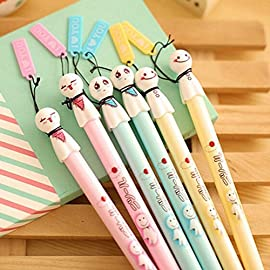 FinalZ Pack of 6 Pcs 0.38 Mm Cute Cool Japanese Sunny Doll Gel Ink Pen Office School Supplies Students Children Gift – Random Color