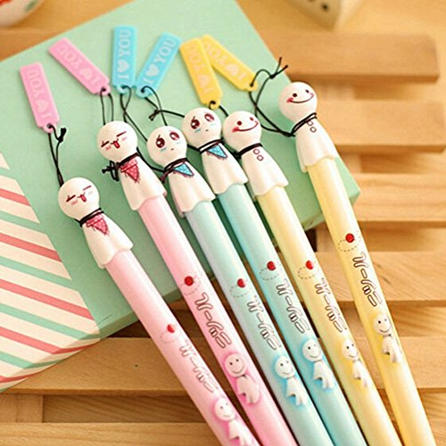 FinalZ-Pack-of-6-Pcs-038-Mm-Cute-Cool-Japanese-Sunny-Doll-Gel-Ink-Pen-Office-School-Supplies-Students-Children-Gift-Random-Color