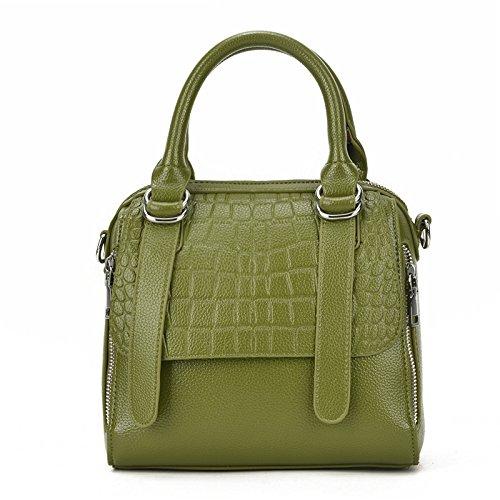 Meoaeo Nuevo Señoras Bolso Bolso De Moda Moda Ocio Puede Ser Diagonal De Color Lila Stone green