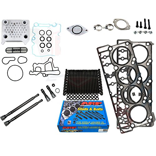Ford 6.0L 6.0 Powerstroke Kit - 2004.5-2006 - ARP Studs 18MM Head Gaskets Oil Cooler Stand Pipes (18mm)