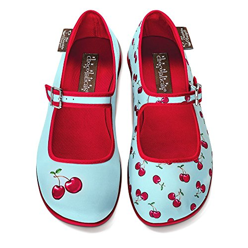 para Jane Chocolaticas Hot Varios Design Cherry Colores Chocolate Mary Mujeres Bailarina EEYq0