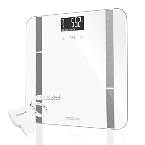 Cecotec Surface Precision 9400 Full Healthy Báscula Baño Digital de alta precisión.Plataforma de cristal
