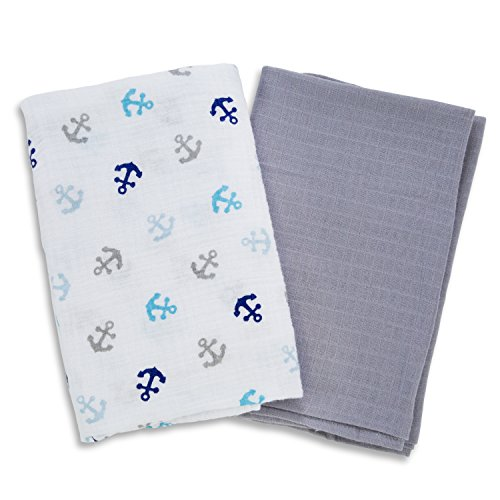 SwaddleMe Muslin Swaddle Blankets Anchors