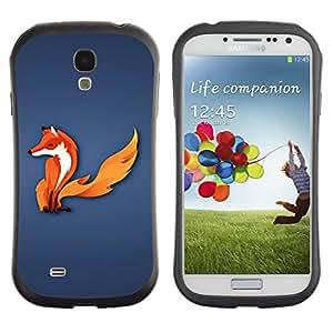 LASTONE PHONE CASE / Suave Silicona Caso Carcasa de Caucho Funda para Samsung Galaxy S4 I9500 / The Fox