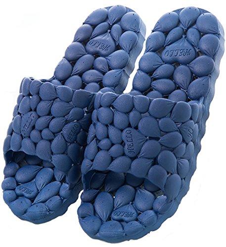suave para ducha drenantes playa antideslizante Lily y marino azul Chanclas Happy qPUty