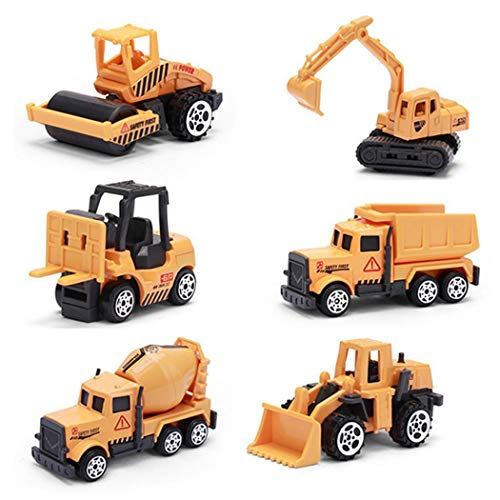 Kentew 4PCS Children Funny Inertial Alloy Model Toy Cars Pull Back Engineering Car Toy Set Play Vehicles