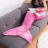 LANGRIA Mermaid Blanket Glittering Flannel