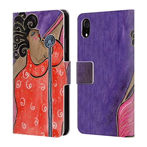 Official Wyanne Blues Singer Big Diva Leather Book Wallet Case Cover for iPhone -