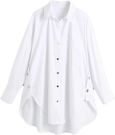Camisas De Las Mujeres De La Moda De Oro Botón Za Suelta ...