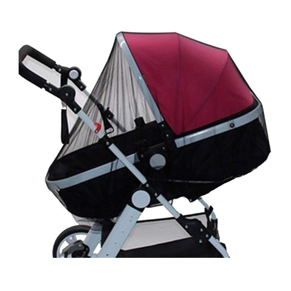 XBYEE Baby Mosquito Net for Stroller, Car Seat & Bassinet Premium, Ultra Fine Mesh Protection - Insect Net Cover Buggy Covers for Cradles Portable Infant Insect Netting (Black)