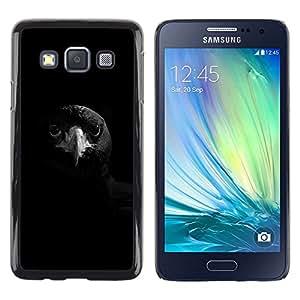 Cuervo Negro Pájaro Pico inteligente de la roca profunda- Metal de aluminio y de plástico duro Caja del teléfono - Negro - Samsung Galaxy A3