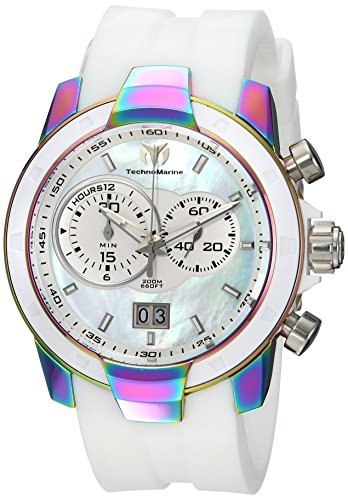 Technomarine Men's 'UF6' Quartz Stainless Steel and Silicone Casual Watch, Color:White (Model: TM-615018)