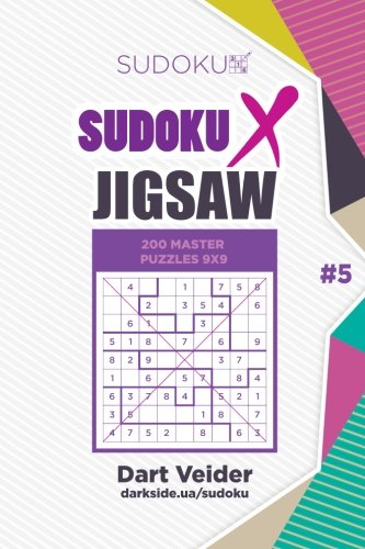 Download Sudoku X Jigsaw - 200 Master Puzzles 9x9 (Volume 5) pdf
