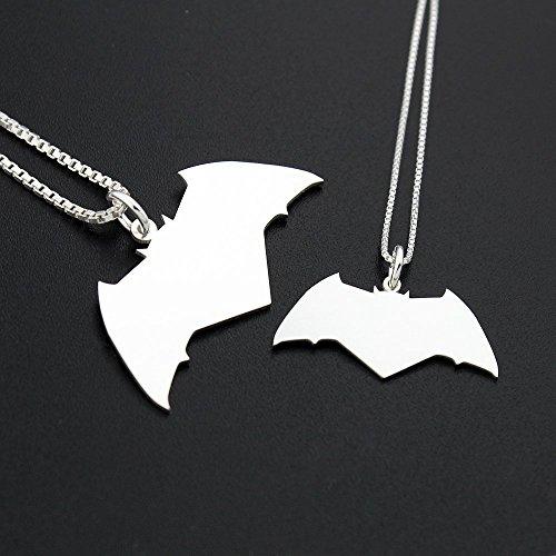Batman Necklace superhero unisex CHOOSE For men or women Sterling silver pendant Italian box chain Justice League couples gift Batman symbol