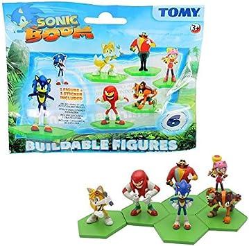 Sonic Boom Set Completo 6 Figuras de Colleccion BUILDABLE Figures y Stickers - 100% Original Sega Tomy: Amazon.es: Juguetes y juegos