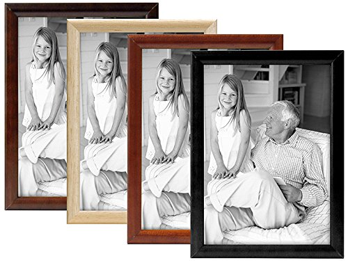 Bullnose Tabletop Picture Frame - MCS 8x10 Inch Bullnose Fashion Frame, Walnut (55925)