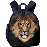 Lion Double Zipper Waterproof Children Schoolbag With Front Pockets For Youth Boy Girls