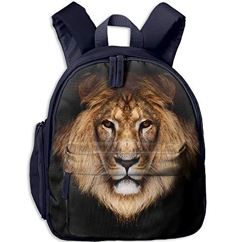 Lion Double Zipper Waterproof Children Schoolbag With Front Pockets For Youth Boy Girls by TPXYJOF
