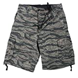 Rothco Vintage Infantry Utility Shorts, Tiger Stripe, Large