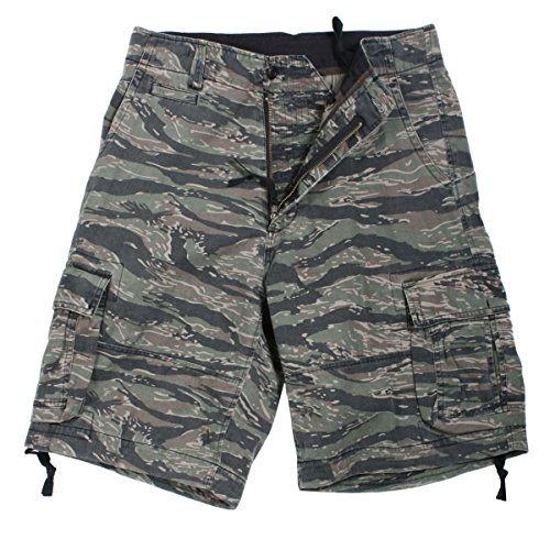 - Rothco Vintage Infantry Utility Shorts, Tiger Stripe, X-Large