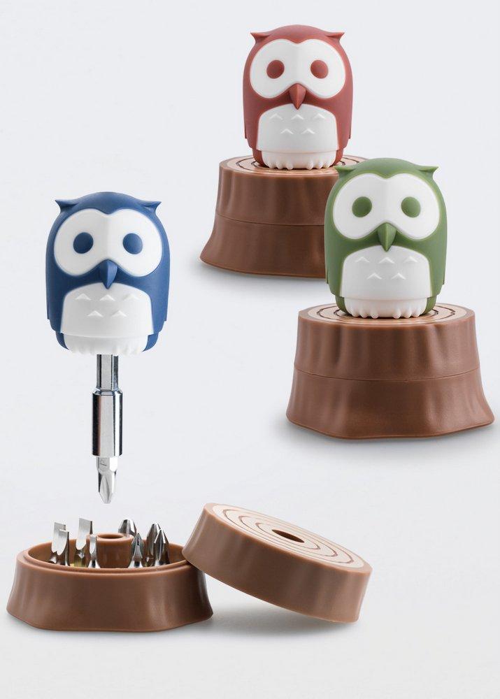 iThinking Huku mit Trunk Owl Form Tragbarer Schraubendreher mit Verl/ängerungsstange olivgr/ün