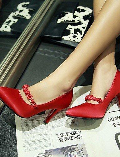 GGX/ Damen-High Heels-Kleid / Lässig-Seide-Stöckelabsatz-Absätze-Schwarz / Lila / Rot red-us3.5 / eu33 / uk1.5 / cn32